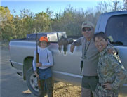 Hunter, Tren and Eddie with two very unlucky Mallards